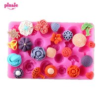 Wholesale Silicone Molds Fondant Flowers - Flower silicone Fondant Mold,Resin Clay fondant molds, silicone cake mould,fondant cake decorating tools wholesale