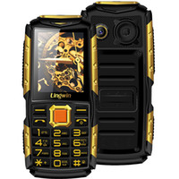 Großhandel 2.4 Zoll Outdoor Shockproof Rugged Feature Handy Handy 3100mAh Power Bank Funktion Dual Flash Licht FM Radio Loud Lingwin N2