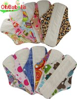 Wholesale Mamas Pads - S M L Three Sizes Women Washable Bamboo Mama Cloth  Menstrual Pads  Reusable Sanitary Pads Pattern Print Mothers Day Gifts