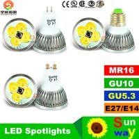 b22 led 15w cree Canada - Free shipping High power CREE Led Lamp 9W 12W 15W Dimmable GU10 MR16 E27 E14 GU5.3 B22 Led Spotlight led bulb downlight