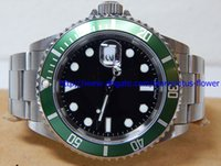 montres de plongée perpétuelles achat en gros de-Montre d'anniversaire de lunette en céramique de luxe vert 116610LV Boîte d'origine de montres de plongée perpétuelles