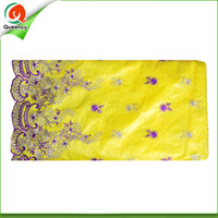 Wholesale Damask Guinea Brocade - 2016 New Design Embroidered Damask Shadda Bazin 5yards pcs width 1.2y Guinea Brocade Fabric 4 colors available Hot Sale BQ010