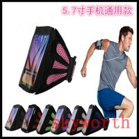 Wholesale Iphone Sports Arm Pouch - Universal Breathing Holes Running Sport GYM Arm Band Case For iphone 5s 6 6s plus Samsung Galaxy S5 S6 Edge S7 edge
