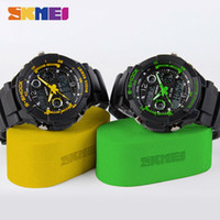 Wholesale Men S Watches Alarm - S SHOCK Hombre Sports Watches Outdoor Watch Men Analog Digital Quartz Watches Water Resistant Military Army Alarm SKMEI Wristwatches