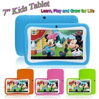 Wholesale China Kids Games - 7 Inch HD Screen Quad Core Children Kids Tablet PC 8GB RK3126 Android 5.1 1024*600 Dual Cameras Educational Games App Birthday Gift