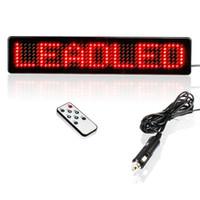 painéis de placas led programáveis venda por atacado-Atacado-DC 12V Car LED sinal remoto programável vermelho Led mensagem rolagem Display Board frete grátis rápido