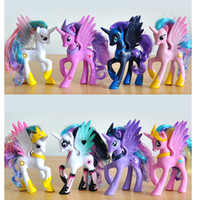 Wholesale Cheap Toy Horses - Plastic Horse Toy Rainbow Dash Filly Princess Celestia Cheap Action Figures Anime Figure Kids Toys For Boys Girls