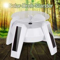 suporte de mesa universal venda por atacado-Mini Solar Power LED Display de Luz Girando Jóias de Mesa Relógio Inteligente Telefone Celular Celular Suporte de 360 Graus