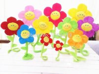 Tendaggio Clasps Clip Fibbia flessibile Tieback Hold Hold Holder Cartoon sorriso Fronte Girasole Home Decor Flower