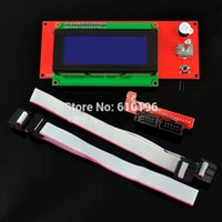 Wholesale Ramps Pcb - Wholesale-3D Printer Reprap Ramps 1.4 2004 LCD Display Controller + Smart Adapter+ Cable White PCB