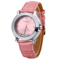 Wholesale Sinobi Fashion Crystal - Female Top brand Sinobi 9276 watches for women Fashion Crystal quartz-watch And Leather Strap Ladies Watch Water Resistance