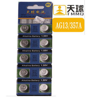 Wholesale Lr44 Battery Wholesale - Button Cell Coin Batteries Alkaline Alcaline Alcalina Watch Battery AG13 LR44 Calculator Computer Camera Electronic Toys Electronic Watch