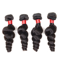 Wholesale Cheap Uk Wholesale - Annaberry 4pcs brazilian loose wave cheap human hair weaving uk Malaysian peruvian mongolian vietnam loose wave virgin hair weave bundles