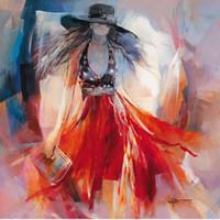 ingrosso dipinti figure signore-Willem Haenraets art Figure Paintings Lady elegante Summerdress olio su tela riproduzione dipinta a mano di alta qualità