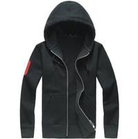 Wholesale hood men s hoodies cardigan - 2018 new High quality autumn winter Hot sale Men's Zipper Hoodies cotton sweatshirts casual with hood sport jacket men's hoodies