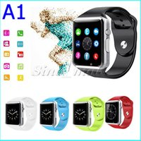 Wholesale Cheapest Fitness Wrist Watches - Cheapest 10pcs iWatch Style Smart Watch A1 Bluetooth Sports Wrist Band GT08 Support SIM TF Card For Android IOS Phone Free DHL
