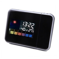 Wholesale New Brand Digital Projection Clock Weather Multi Function Alarm Color Screen Calendar E5M1 hot sale order lt no track