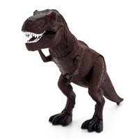 Wholesale dinosaur action - Wholesale- Remote Control Infrared Dinosaur Interactive RC Tyrannosaurus Electric Model RC Animal Pet Action Dinosaur Toys for Children