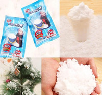 Wholesale Wholesale Fake Snow - Christmas Decoration Instant Snow Magic Prop DIY Instant Artificial Snow Powder Simulation Fake Snow For Night Party
