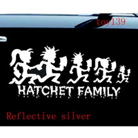 Wholesale Vinyl Wall Decals Mirror - ICP HATCHETMAN FAMILY Hatchet Girl Decal Vinyl Sticker   funny diy Car phone wall window Decal sticker  reflective silver