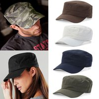 Wholesale Cadet Hats Wholesalers - Men Women Classic Adjustable Army Plain Hat Cadet Military Baseball Sport Cap