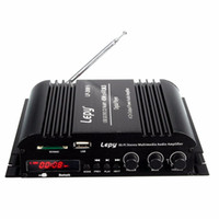 canal mini amplificador de carro venda por atacado-Freeshipping LP-269 4 canais FM multifuncional USB SD MP3 player controle remoto digital Stereo audio mini amplificador de potência do carro