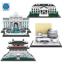 Wholesale House Fountains - LOZ Blocks Architecture Series The White House Juguetes Trevi Fountain Mini Diamond Blocks Compatible Educational Lepins Toy