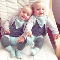 Wholesale baby knee crawling socks - Cotton Baby Knee Pads Protector Kids Crawling Elbow Cushion Anti Slip Crawl Children Short Kneepad Infants Baby Kneecap Socks