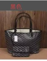 Wholesale Tone Satin Flower - GO Fashion women PU leather handbag large tote bag french shopping bag gy bag Medium size 47*34*27*15cm