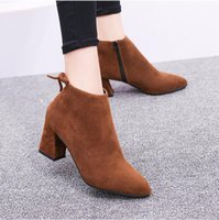 Wholesale Plus Size High Heels Boots - New 2017 fashion winter casual women warm boots lace up High heels boots shoes botas Mujer plus size 34-40 D006