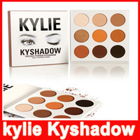 Wholesale Eyes Shadow Palette - in stock!! Kylie Cosmetics Jenner Kyshadow eye shadow Kit Eyeshadow BRONZE and BURGUNDY Palette Preorder Cosmetic 9 Colors Free Shipping