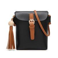 Wholesale Messenger Handbags Tassels - 2017 Women Casual Shoulder Bags Tassel Ladies Satchel Handbags Retro Design Female Crossbody Bag Pu Leather Small Messenger Bags