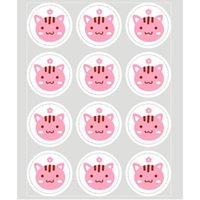 Wholesale Decorated Labels - Cute 20 sheet Label Sealing Paste Sealing Sticker Baking Cookies Packaging Decorate DIY Sticky