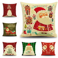 Wholesale Bedroom Couches - Father Christmas Pillowcases Euro-American Style Christmas Gift Pillow Case Christmas Decoration Couch Pillows Case Kids Bedroom Pillowcase