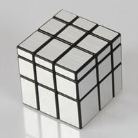ingrosso 3x3x3 cubo specchio-Shengshou 57mm 3x3x3 Mirror Blocks Speed Magic Cube Puzzle Gioco Cubi Giocattoli educativi per bambini Bambini regalo di compleanno