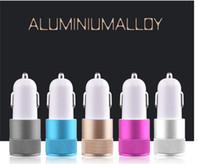 g6 auto großhandel-Dual USB Port Auto Adapter Ladegerät Universal Aluminium 2-Port 3 Ports KFZ Ladegeräte USB für Iphone7 Plus Samsung Galaxy S8 LG G6 Oneplus3