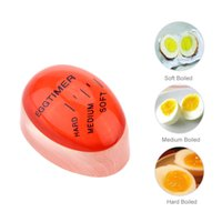 Wholesale Egg Timers - Portable Color Changing Mini Egg Timer with Soft Medium Hard Boiled Calibration Practical Kitchen Supplies