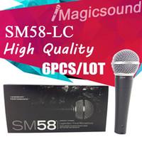 mikrofon 58 großhandel-15 STÜCKE Neue Hohe Qualität SM58LC SM 58 58LC Verdrahtete Dynamische Niere Professionelle Mikrofon Legendären Gesang Microfone Mike Mic