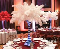 Venta al por mayor 100pcs 10-24inch / 25-60cm pluma de avestruz de color blanco para la fiesta de la boda de la pieza central decoraction evento festivo decoración suministro TNM-00020