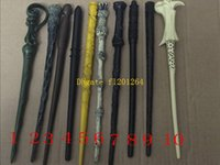 Wholesale Harry Potter Deluxe - 20pcs lot Free Shipping Wholesale Deluxe Harry Potter Hogwarts Magic Magical Wand Wizard NIB Cosplay plastic stick