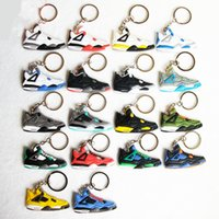Wholesale Black Boy Ceramics - High-quality retro 4 Key Chain, Sneaker Keychain Key Ring Key Holder for Woman and Girl Gifts Chaveiro Llaveros