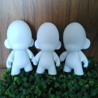 Wholesale White Dunny - 2016 New 10*8*6cm Mini Kidrobot Micro Munny Figure DIY Rotomolded PVC Kid Doll Unpainted Dunny Doll For Children Gift