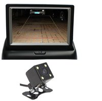 Wholesale Mini Monitor Inch - 4.3 Inch TFT LCD Mini Car Dashboard Rear View Monitor with Security backup Camera Car Rearview Monitor
