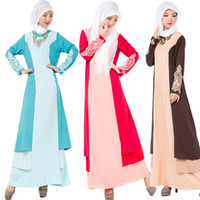 Wholesale Kaftan Dresses Wholesale - National Trend Abaya 2016 Turkish Djellaba Arab Garment Islamic Clothing Dubai Kaftan Muslim Women Long Dress Ethnic Clothing Drop Shipping