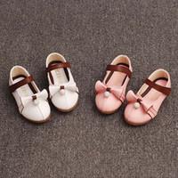 Wholesale Child Pink Dress Shoes - Girl Shoes Children Dress Shoes Kids Footwear Korean Casual Princess Shoes 2016 Autumn Girls Dress Shoes Kids Leather Shoes Lovekiss C27888