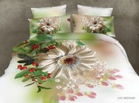 Wholesale Wholesale 3d Flower Bedding - Free shipping 4pcs lot high quality 3D active flower printed 4pcs bedding set 2017 newest home textiles