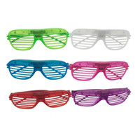 Wholesale Rave Supplies - Fashion Shades Flashing LED Glasses Party Funny Tricky Fluorescent Luminous Rave Costume Party DJ Bright Supplies