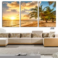 Wholesale palms trees pictures - High Quality Hot Sell The Family Decorates palm tree Print in The Oil Painting On The Canvas,Wall Art Picture Gift unframed