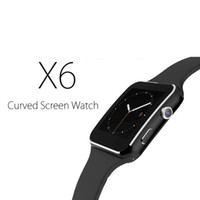 Wholesale facebook camera for android - Bluetooth Smart Watch X6 Sport Passometer Smartwatch with Camera Support SIM Card Whatsapp Facebook for Android Phone