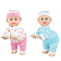 Wholesale Inflatable Doll New - Wholesale- 8 Inch New Hot Children Kids Pretend Play Baby Sleeping Appease education Toys Gifts Electric Vocal Sing Dancing Crawling Doll